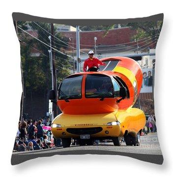 Oscar Mayer Wienermobile Throw Pillow