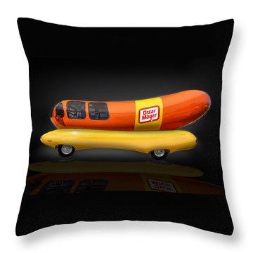 Oscar Mayer Wiener Mobile Throw Pillow by Gary Warnimont