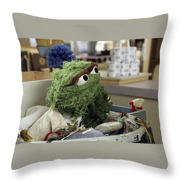 Oscar The Grouch Throw Pillow