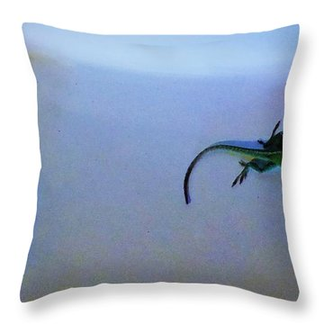 Throw Pillow featuring the photograph Oscar The Lizard by Denise Fulmer
