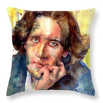 Oscar Wilde Watercolor Throw Pillow