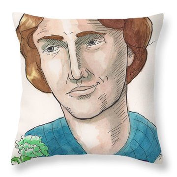 Oscar Wilde Throw Pillow by Whitney Morton