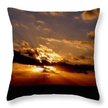 Osculate Throw Pillow by Priscilla Richardson