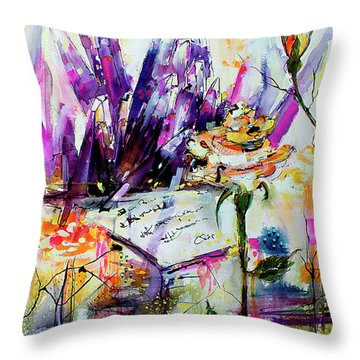 Yellow Rose For Friendship Travel Log 07 Throw Pillow