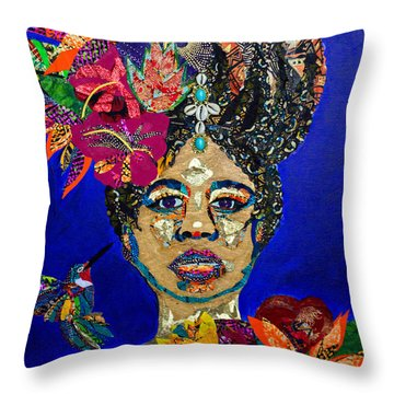 Oshun Blooming Throw Pillow