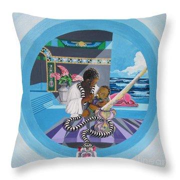 Blaa Kattproduksjoner             Osiris Feeding His Son Horus Throw Pillow