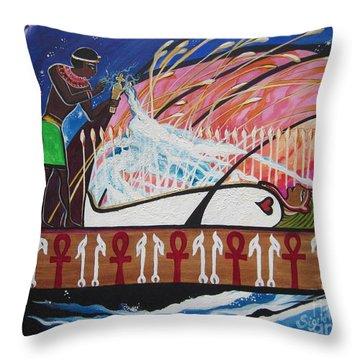 Osiris - Nepra By Blaa Kattproduksjoner  Throw Pillow