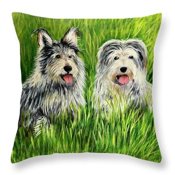 Oskar And Reggie Throw Pillow