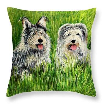 Oskar And Reggie Throw Pillow