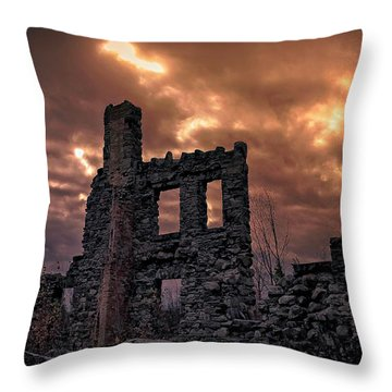 Throw Pillow featuring the photograph Osler Castle by Michaela Preston