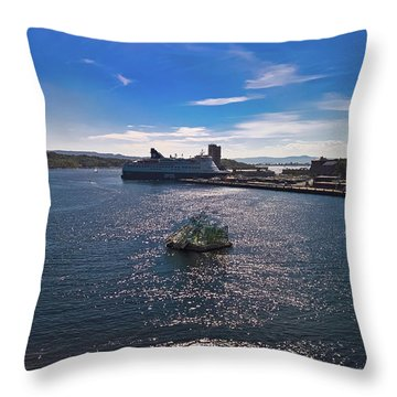 Oslo Fjord From The Roof Of The National Opera House Throw Pillow