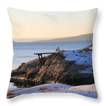 Oslo Fjords, Norway  Throw Pillow