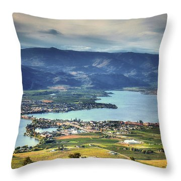 Osoyoos Lake 2 Throw Pillow by Tara Turner