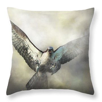 Osprey Throw Pillow by Daniel Eskridge