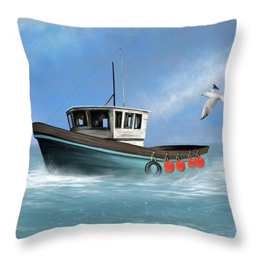 Throw Pillow featuring the digital art Osprey by Mark Taylor