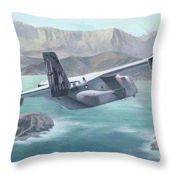 Osprey Over The Mokes Throw Pillow