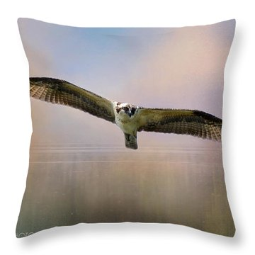 Osprey Over The Shenandoah Throw Pillow