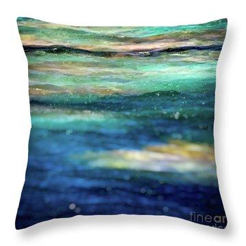 Osprey Reef Throw Pillow by Doug Sturgess