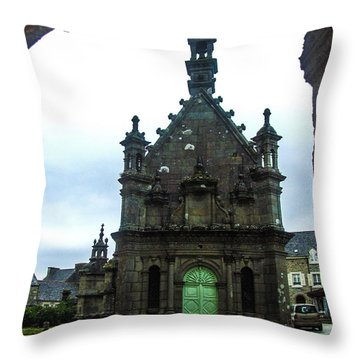 Ossuary Of St Thegonnec Throw Pillow by Helen Northcott