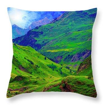 Ossue Mountains Throw Pillow
