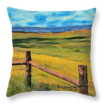Other Side Of The Fence Throw Pillow by Jeff Kolker