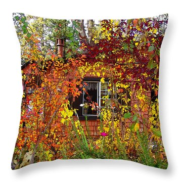 Throw Pillow featuring the photograph Other Side Of The Leaves by Glenn McCarthy Art and Photography