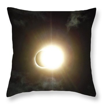 Otherworldly Eclipse-leaving Totality Throw Pillow