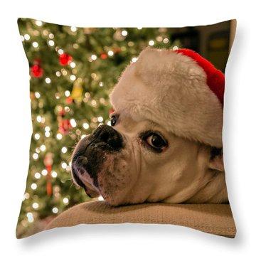 Otis Claus Throw Pillow