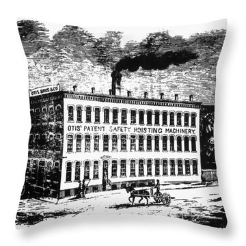 Otis Elevator Factory Throw Pillow by Granger