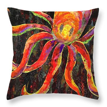 Otis The Octopus Throw Pillow