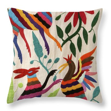 Otomi Fantasy Mexico Throw Pillow