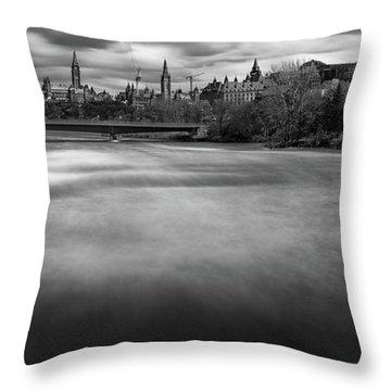 Ottawa Spring Flood Throw Pillow