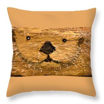 Otter Throw Pillow by Ann Michelle Swadener