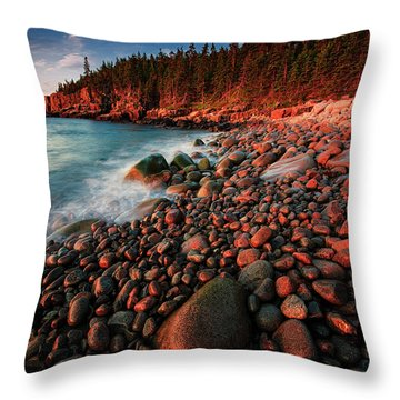 Throw Pillow featuring the photograph Otter Beach Main After The First Light  by Emmanuel Panagiotakis
