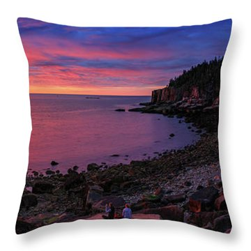 Throw Pillow featuring the photograph Otter Beach Maine Sunrise  by Emmanuel Panagiotakis