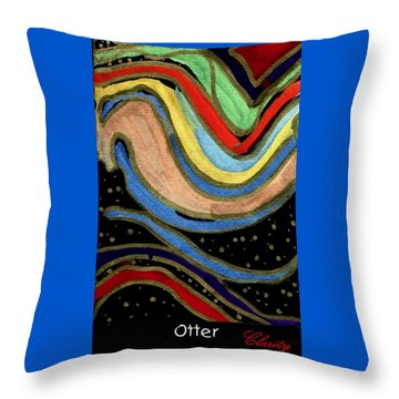 Throw Pillow featuring the painting Otter by Clarity Artists