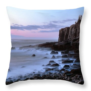 Otter Cliff Awash Throw Pillow
