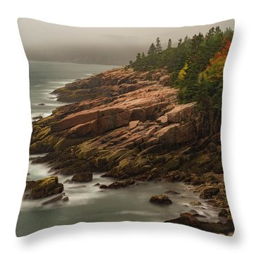Throw Pillow featuring the photograph Otter Cliffs by Gary Lengyel