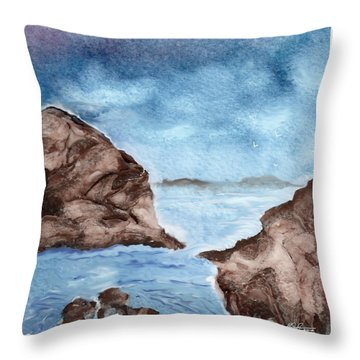 Otter Cove Throw Pillow by Beverly Johnson