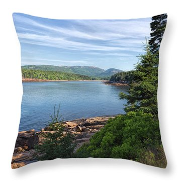 Throw Pillow featuring the photograph Otter Cove by John M Bailey