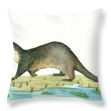 Otter Throw Pillow
