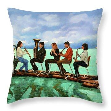 Ottetto In Navigazione Throw Pillow