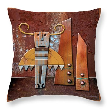 Otto The God Of October Throw Pillow by Joan Ladendorf