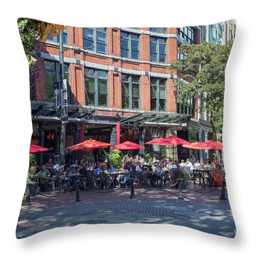 Oudoors Restaurant Vancouver Throw Pillow