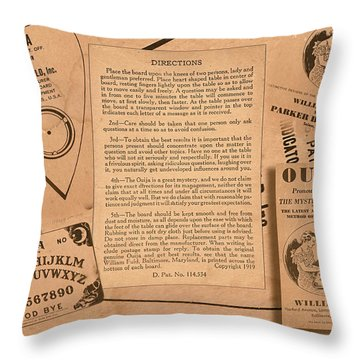 Throw Pillow featuring the photograph Ouija by Steve Sperry