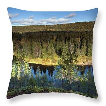 Oulank River Sunrise Throw Pillow