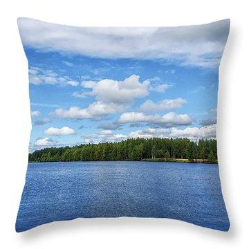 Oulujoki River In Oulu, Finland. Throw Pillow