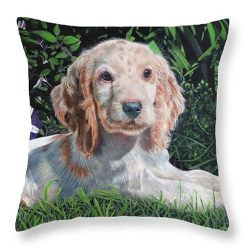 Throw Pillow featuring the painting Our Archie by John Neeve