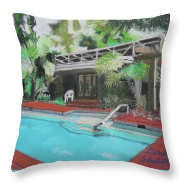 Our Back Yard In Orlando Throw Pillow