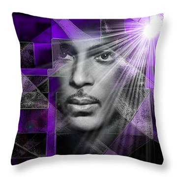 Our Beautiful Purple Prince Throw Pillow